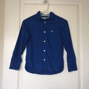 L.O.G.G. Boys Blue Button Down Shirt Size 8-9y